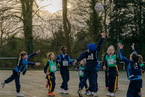 The Grove U9 Netball vs Beachborough School